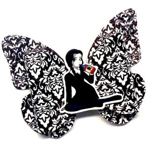 Wednesday Addams Butterfly Hair Bow